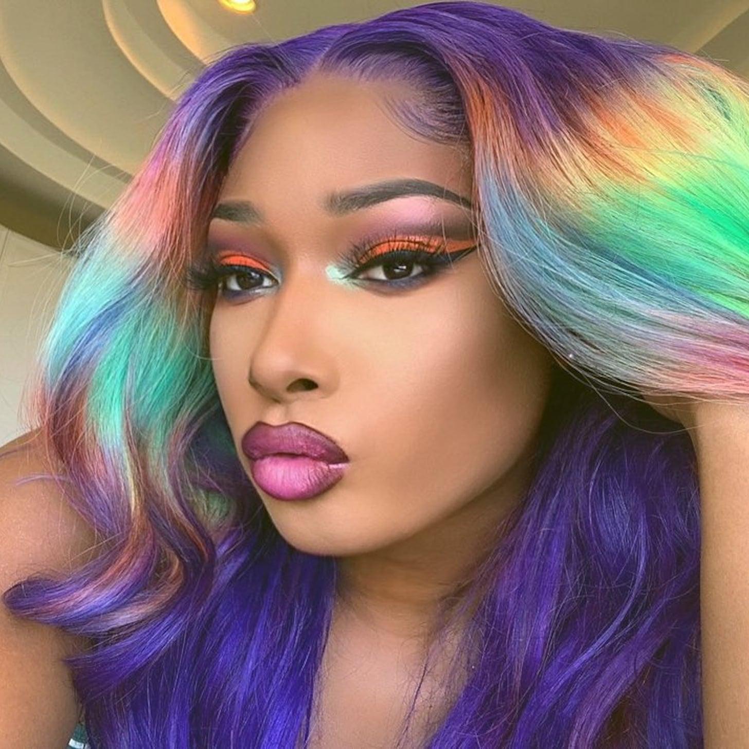 bold colour hair